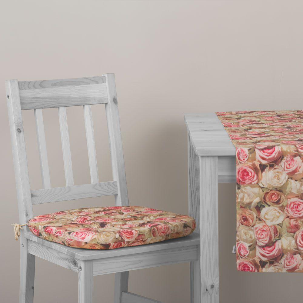 Pernă pentru scaun Roses Chloe 39 x 40 x 4 cm A084-03LB PATIO