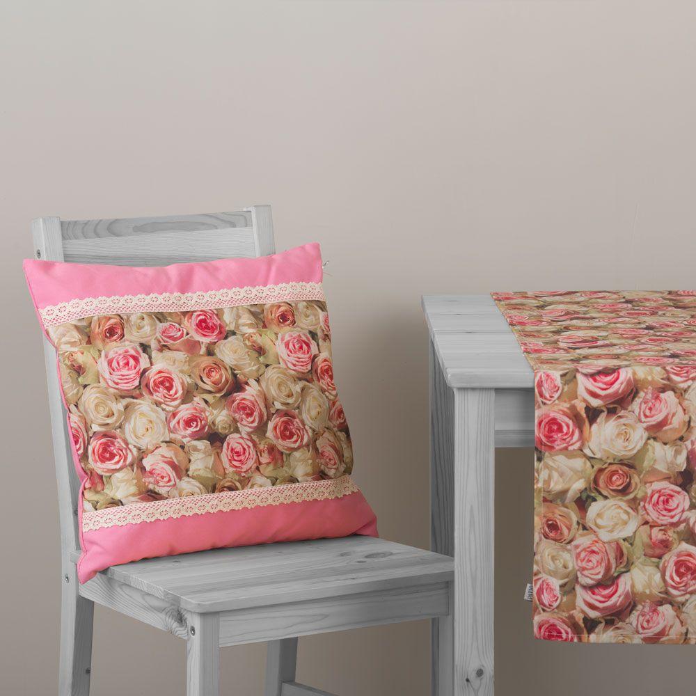 Pernă decorativă cu două fețe Roses Eva 45 x 45 cm L095-03LB PATIO