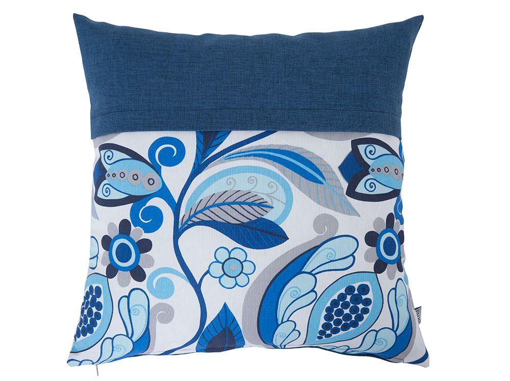 Pernă decorativă cu două fețe Blue Flowers Anna 45 x 45 cm L075-01LB PATIO