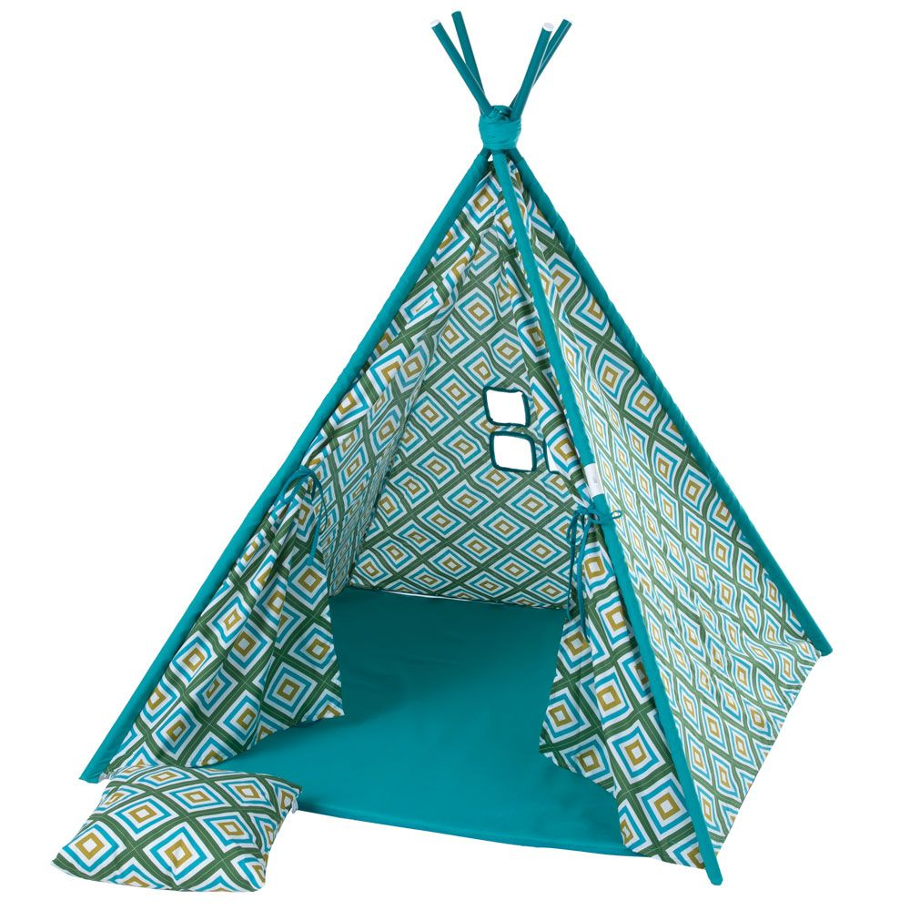 Namiot Tipi z poduszką i matą Romby L068-21PB 100 x 100 x 148 cm PATIO