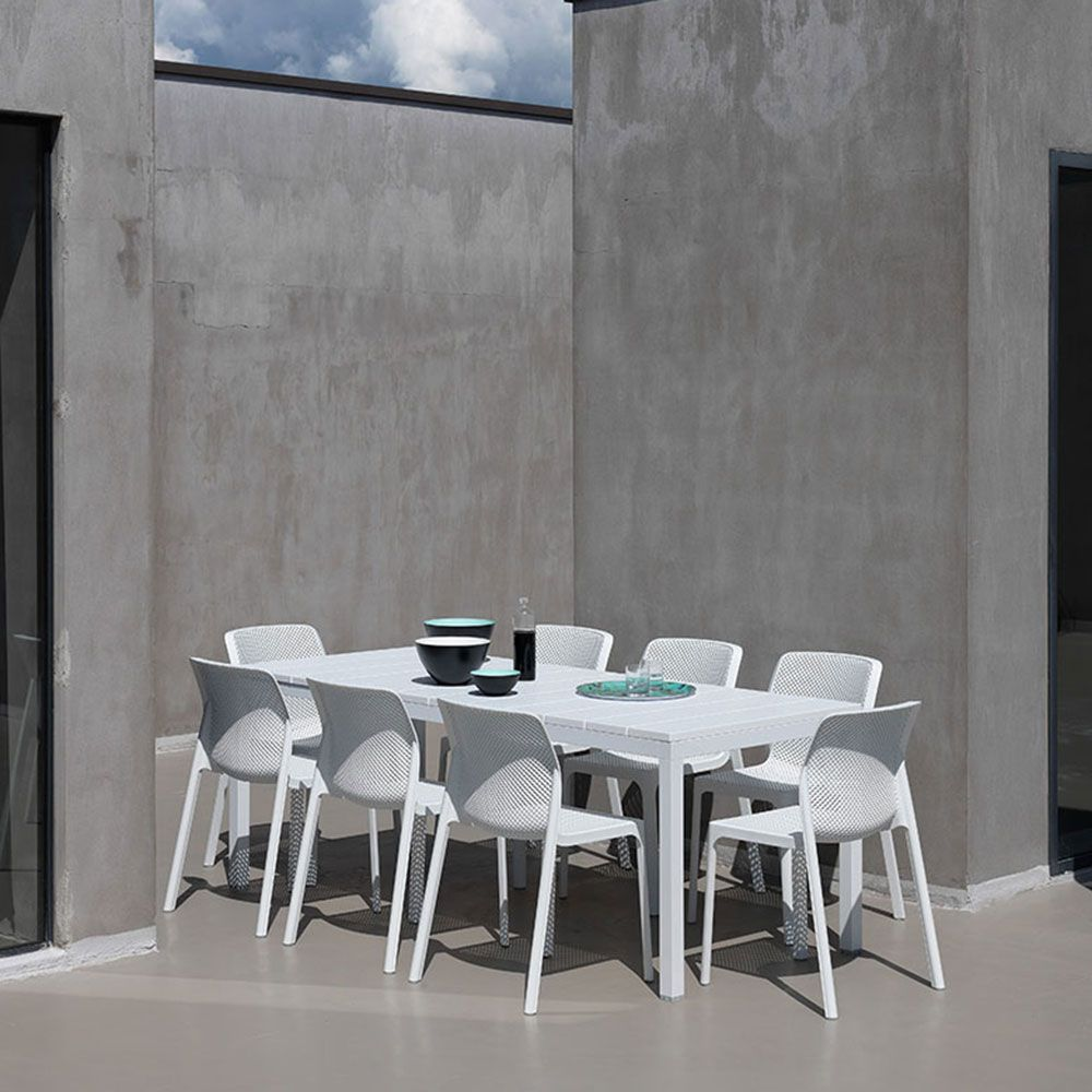 Table extensible Rio blanc 100x210/280x76 cm NARDI