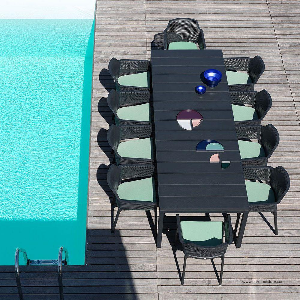 Masă pliabilă Rio Antracite 100 x 210/280 x 76 cm NARDI