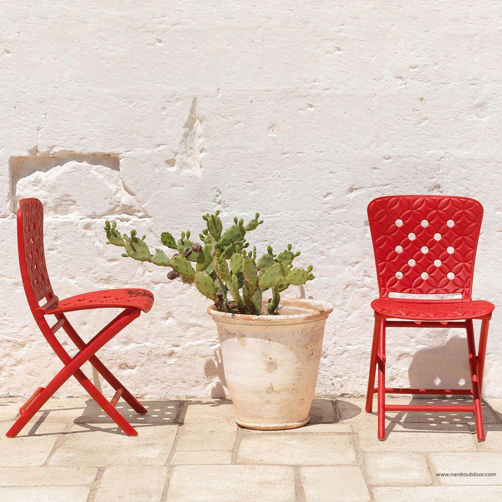 Krzesło ogrodowe składane Zac Rosso NARDI