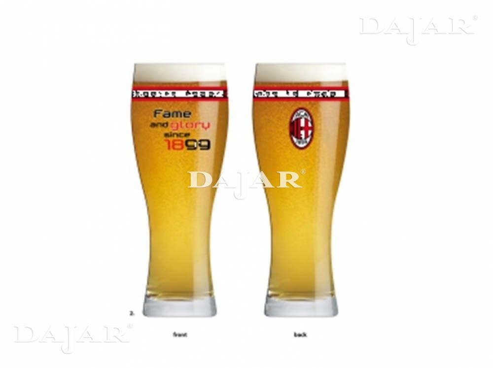 Beer glass Fame and Glory AC Milan 500 ml