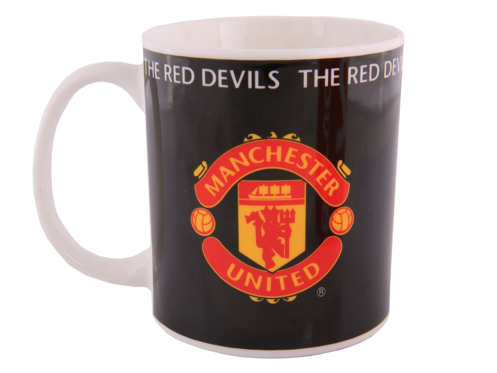 Hrnek Manchester United Support United Black 350 ml