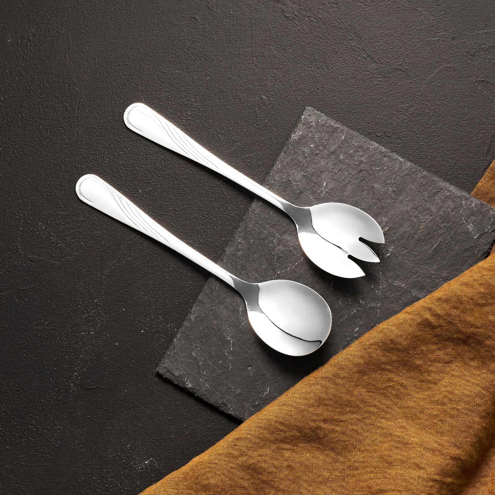 Serving cutlery set 2-pcs Napoli spoon + fork AMBITION