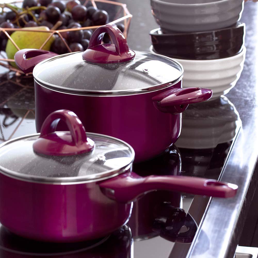 Casserole avec couvercle Glamour purple 16 cm AMBITION