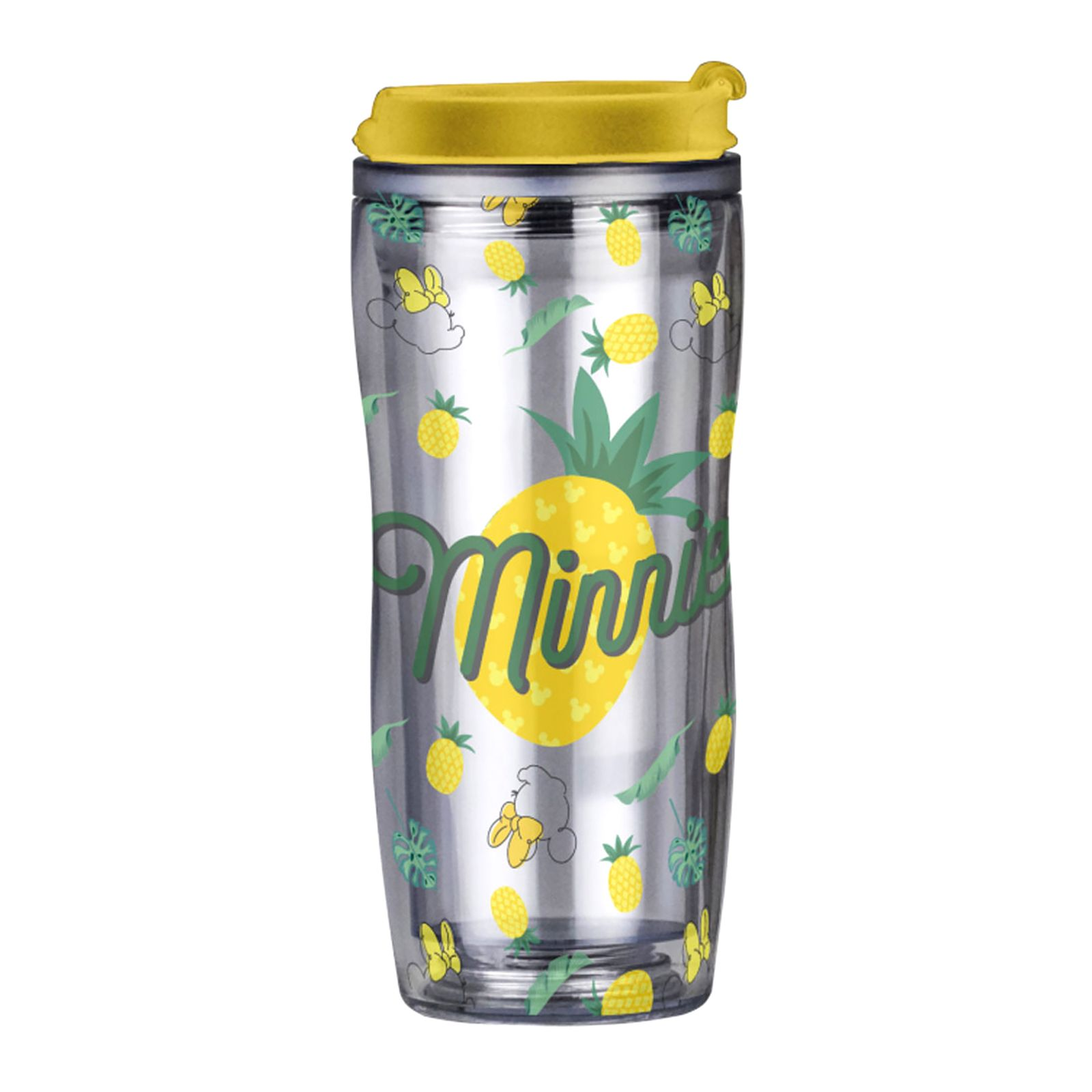 Mug / Water bottle Pineapple with removable decoration 400 ml DISNEY