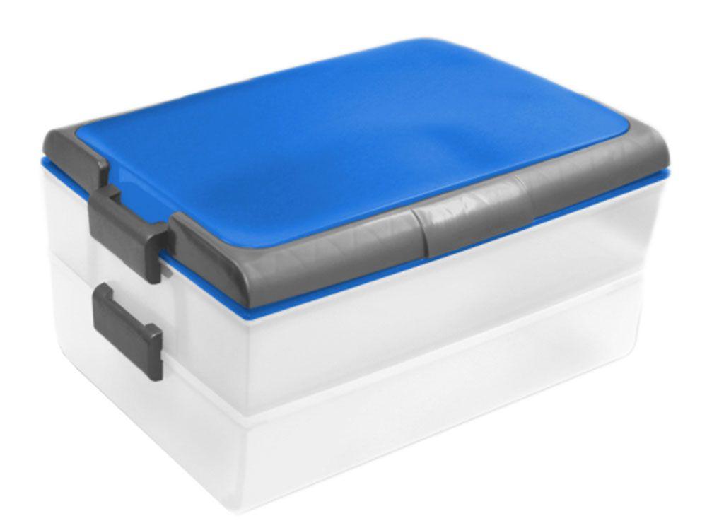 Boîte de conservation à gâteau Dolce Modern blue 39 x 30 x 18 cm DOMOTTI
