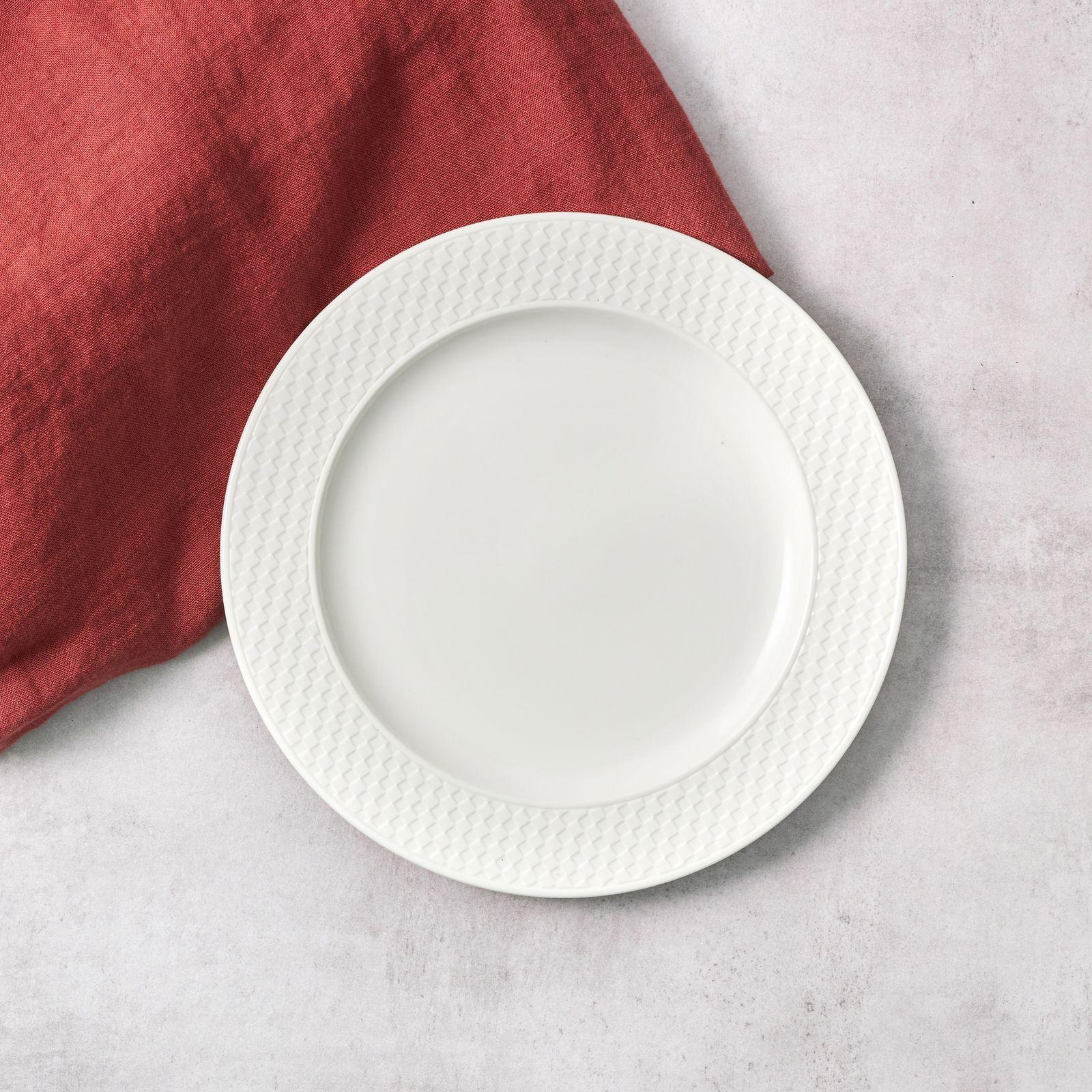 Talerz deserowy Nordic 21,5 cm kremowy AMBITION