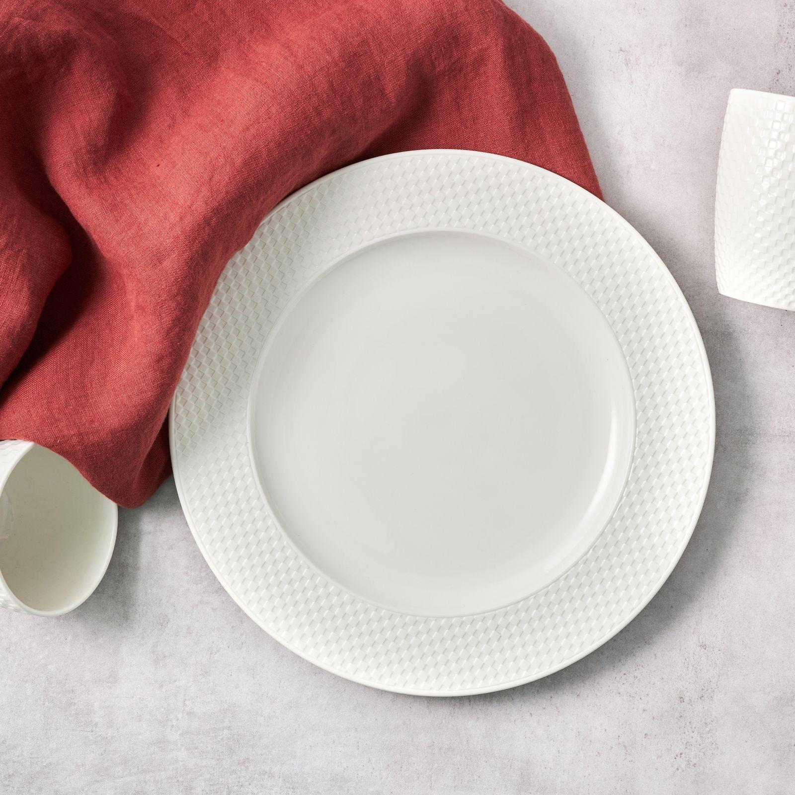 Talerz obiadowy Nordic 27,5 cm kremowy AMBITION