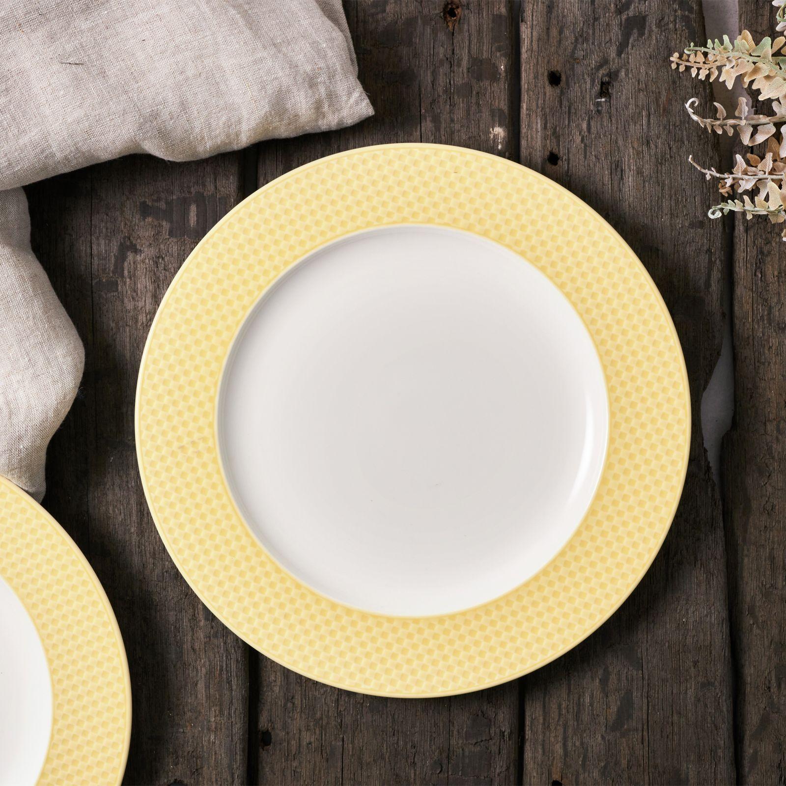 Talerz obiadowy Nordic 27,5 cm żółty AMBITION