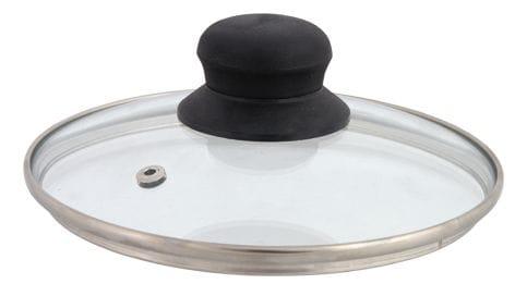 Univerzálna sklenená pokrievka s otvorom na paru 28 cm DOMOTTI