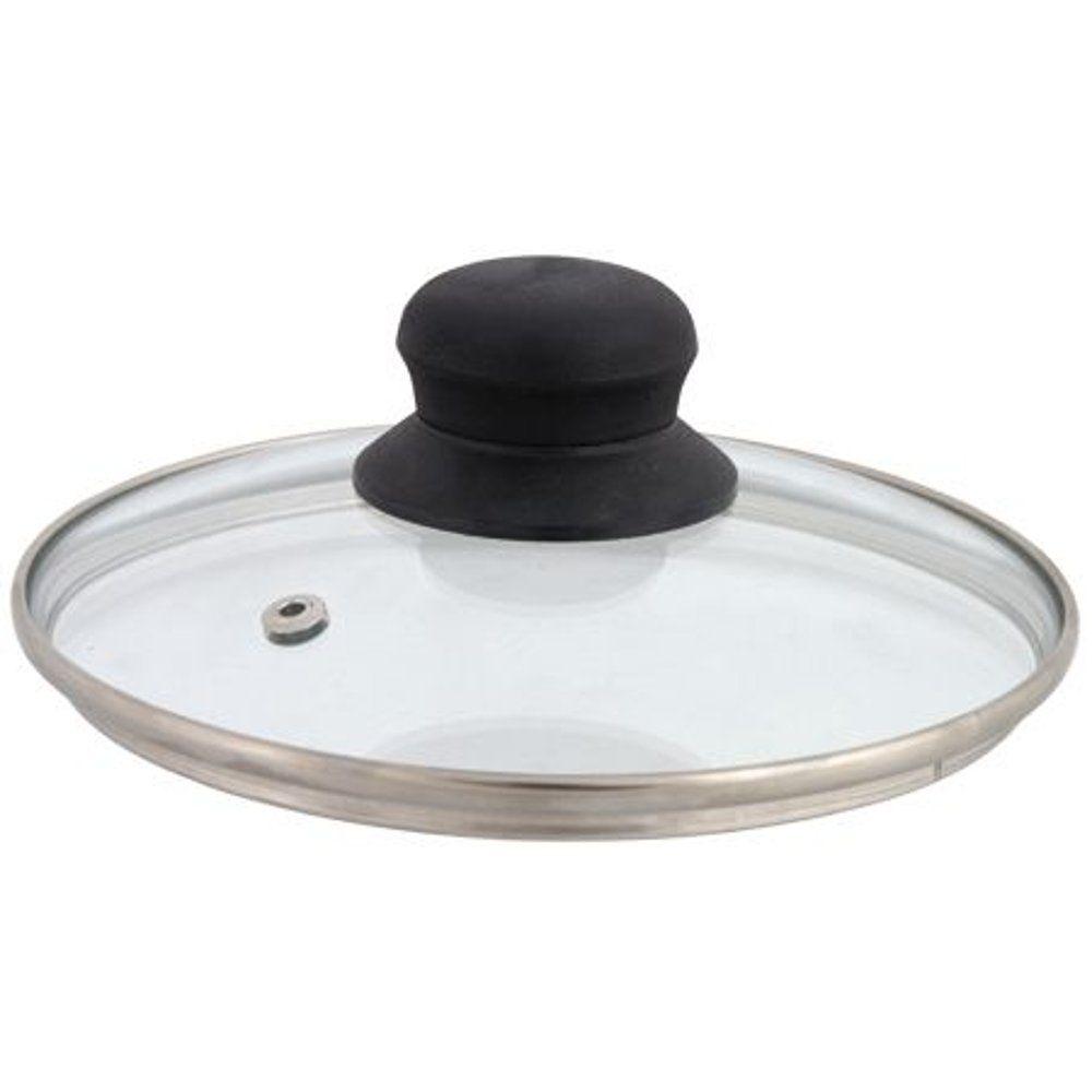 Univerzálna sklenená pokrievka s otvorom na paru 32 cm DOMOTTI