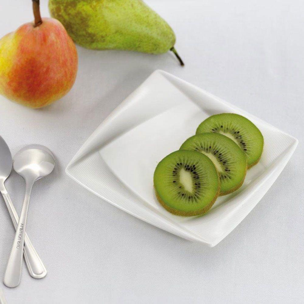 Set of 4 dessert plates Diva 16,5 x 16,5 cm AMBITION