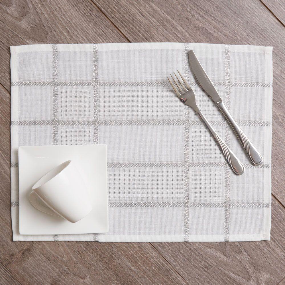 Podložka na stôl z polyesteru Silver 30 x 40 cm AMBITION
