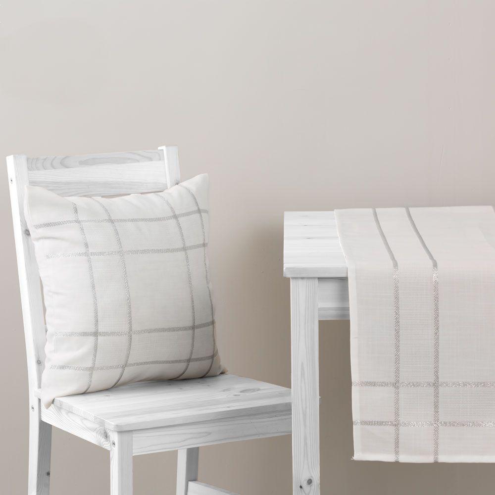 Povlak na vankúš z polyesteru Silver 42 x 42 cm AMBITION