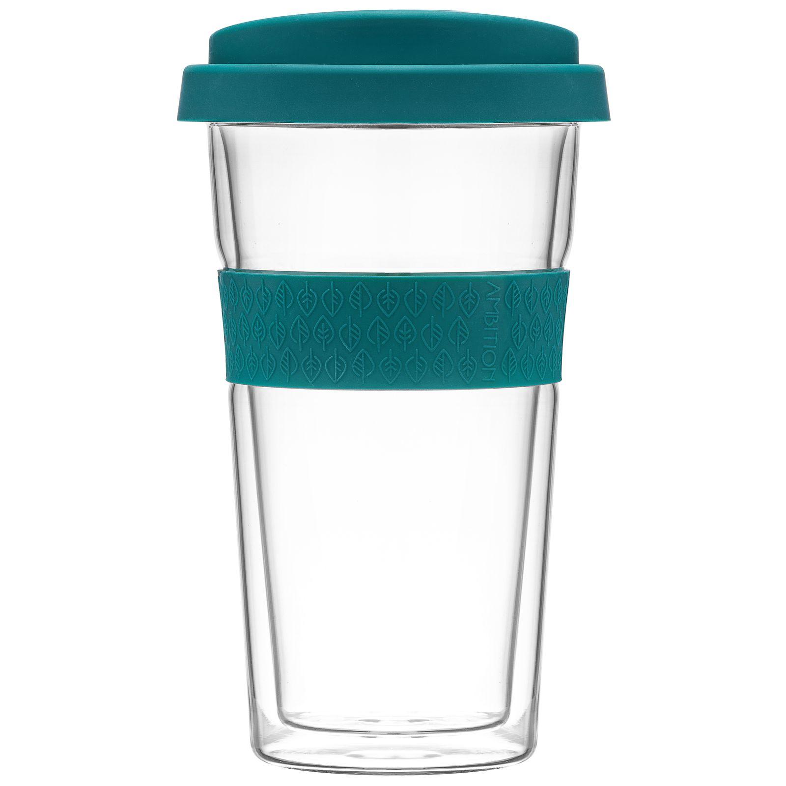 Kubek / szklanka termiczna z opaską Bizet 400 ml Emerald AMBITION