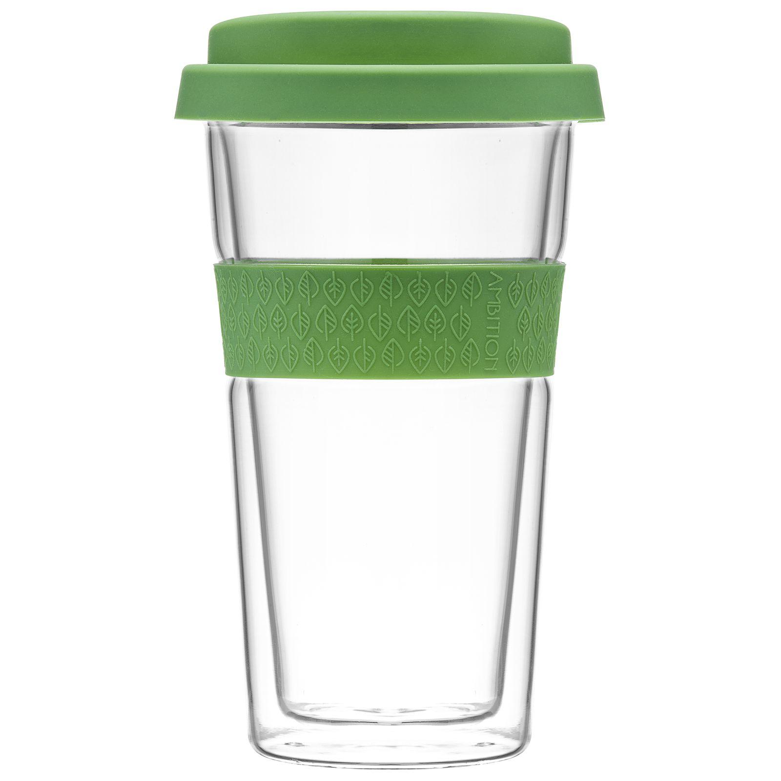 Kubek / szklanka termiczna z opaską Bizet 400 ml Green AMBITION