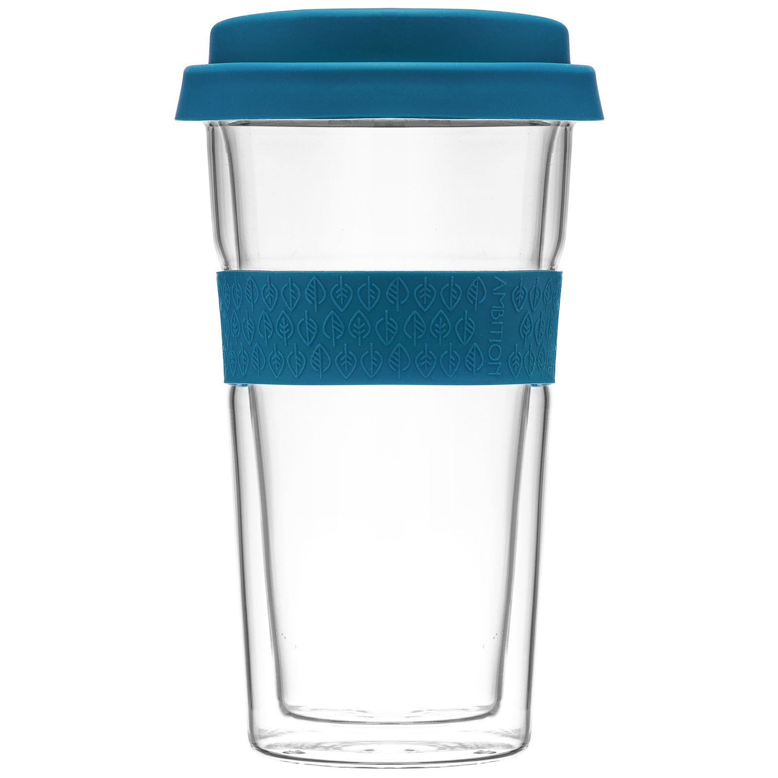 Kubek / szklanka termiczna z opaską Bizet 400 ml Navy Green AMBITION