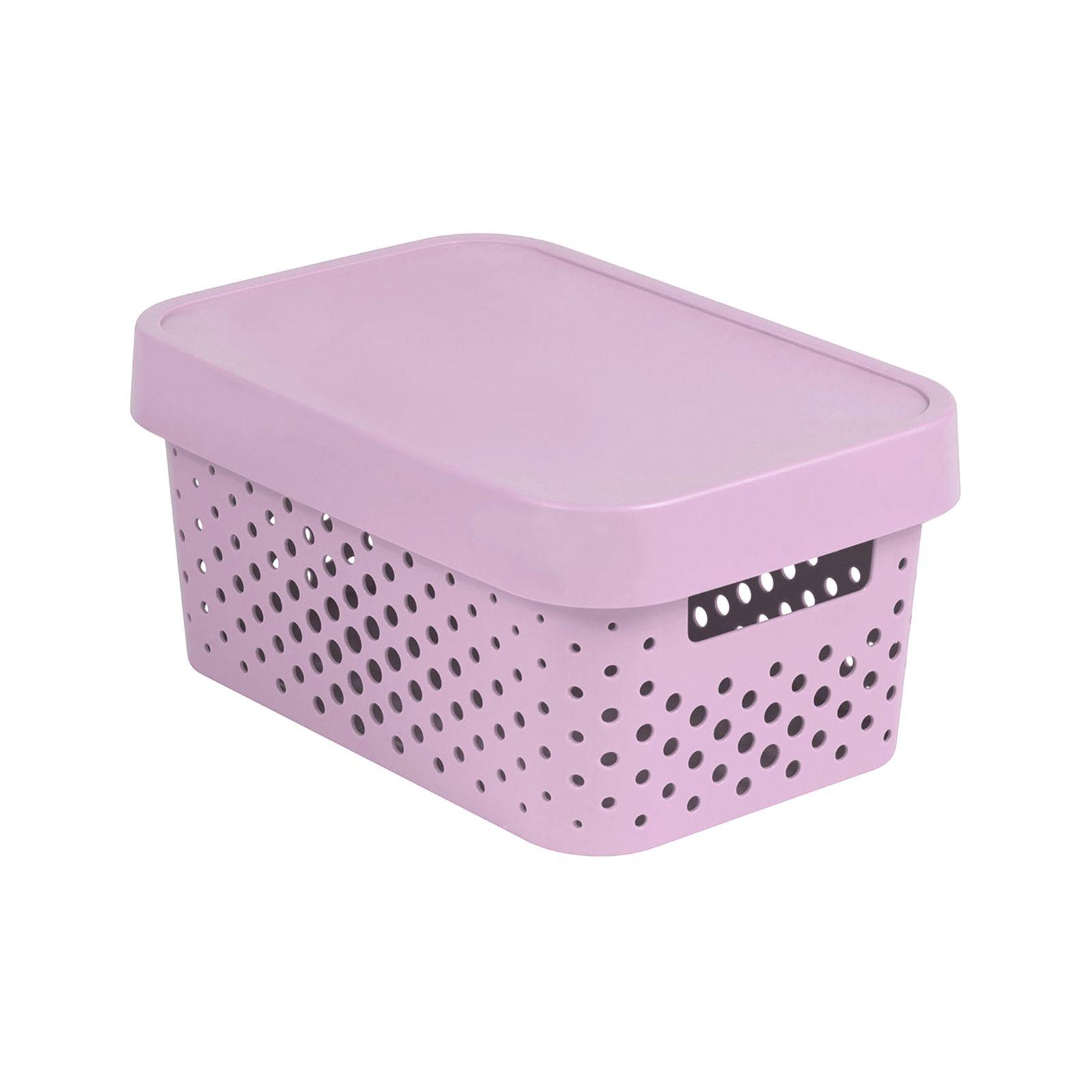 Caja perforada con tapa Infinity rosa 4,5 l CURVER