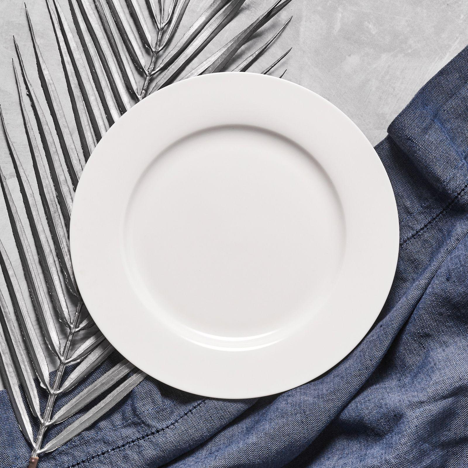 Talerz deserowy Aura White 19 cm AMBITION