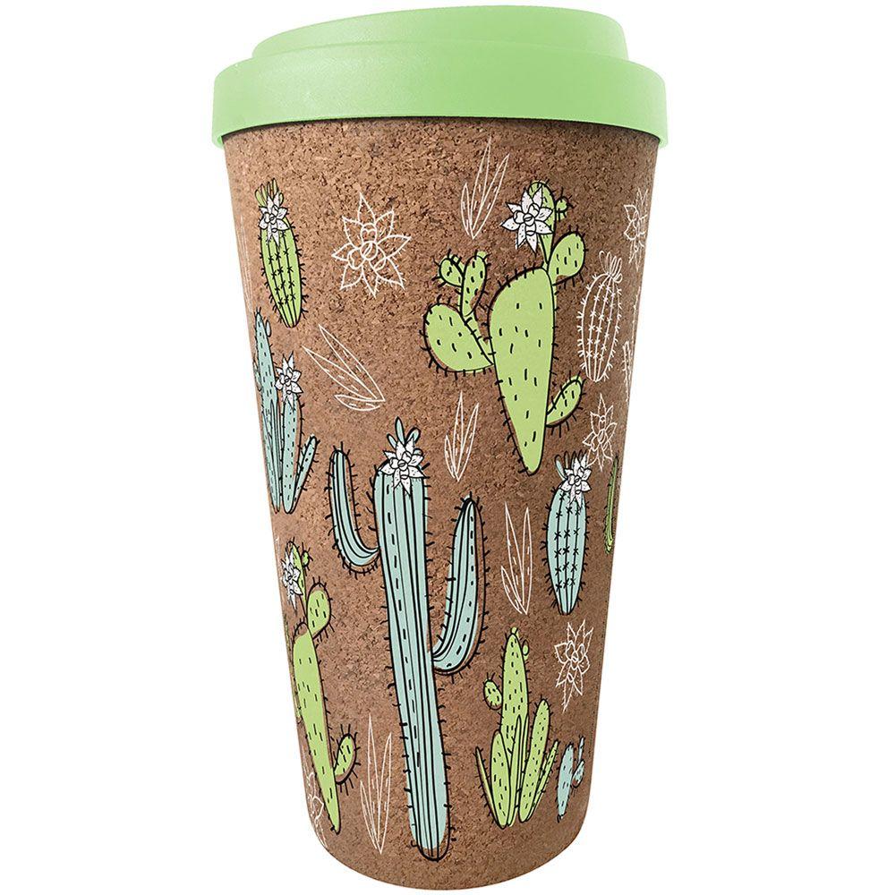 Kubek korkowy Cactus 450 ml kolorowy AMBITION