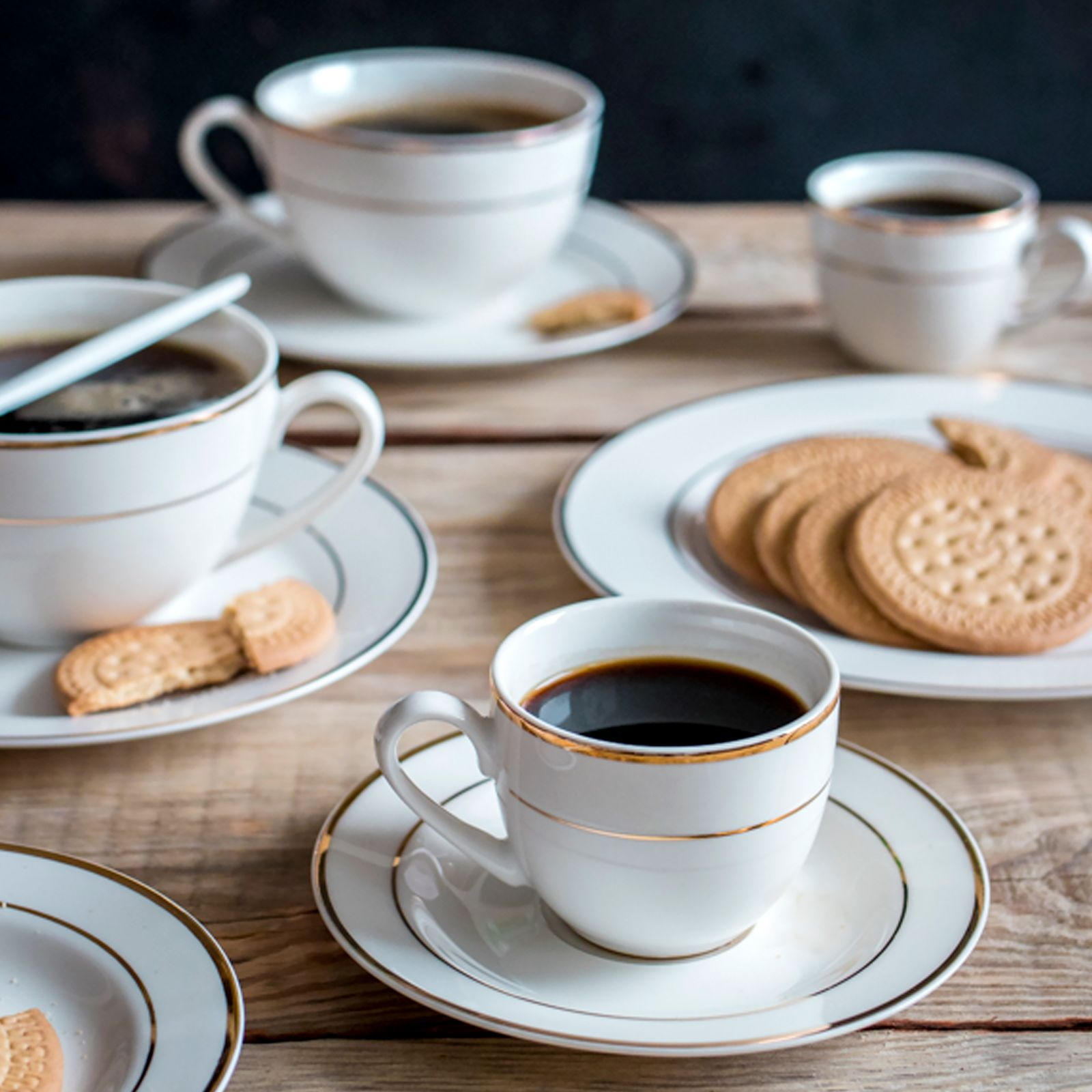 Kaffeeservice 220 ml 12-tlg. Aura Gold AMBITION