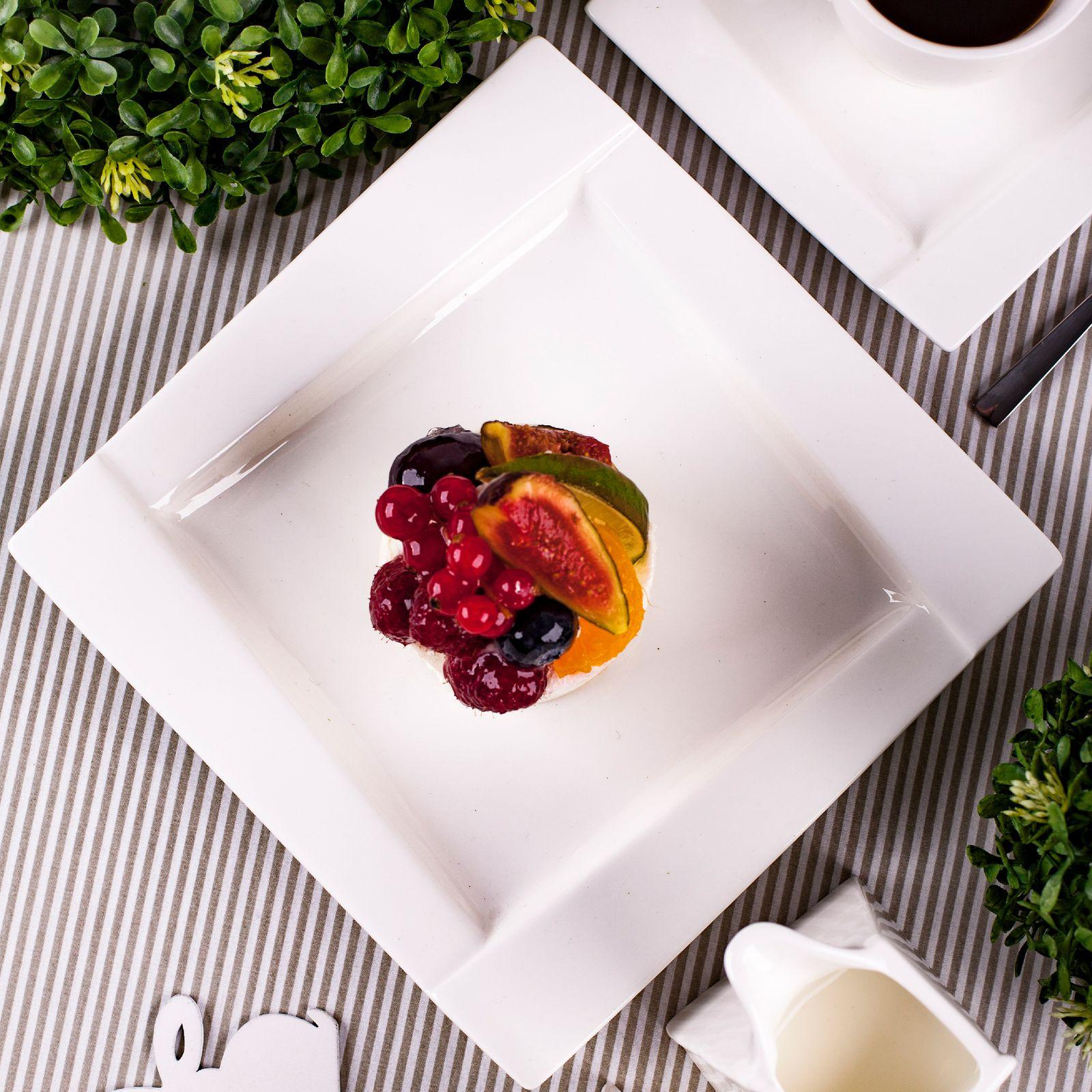 Dinner plate Kubiko 25x25cm AMBITION