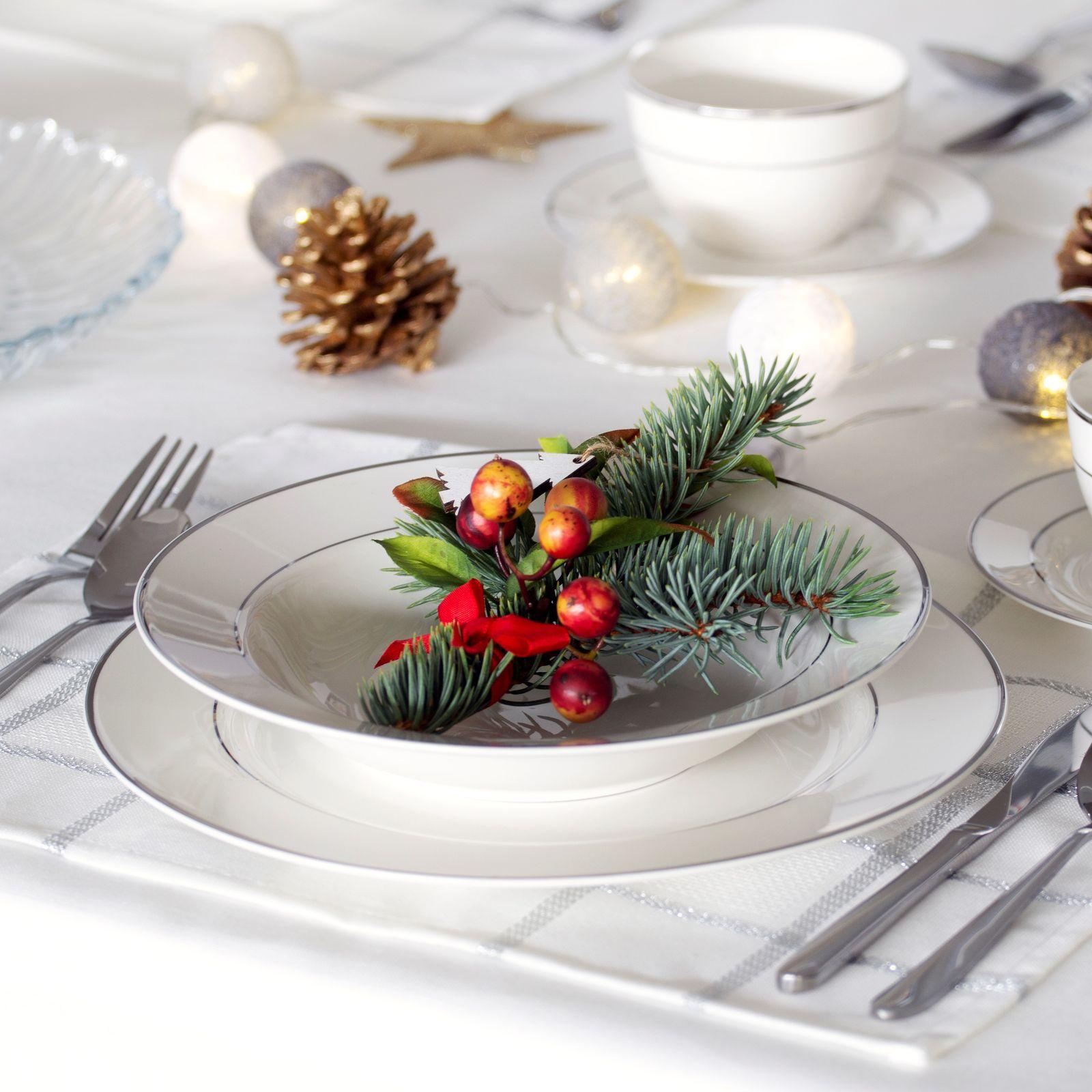 Serwis obiadowy Aura Silver 68-elementowy AMBITION