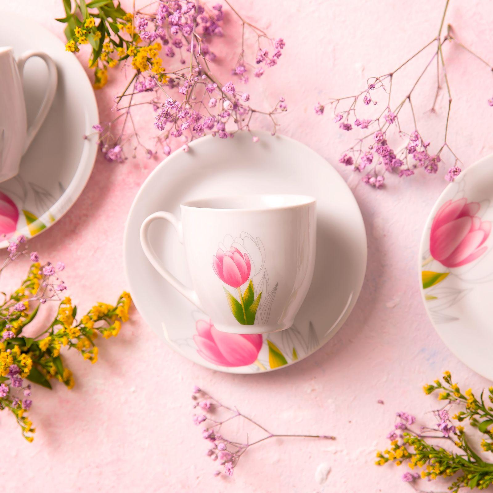 Juego de café Tulipán 12 piezas DOMOTTI