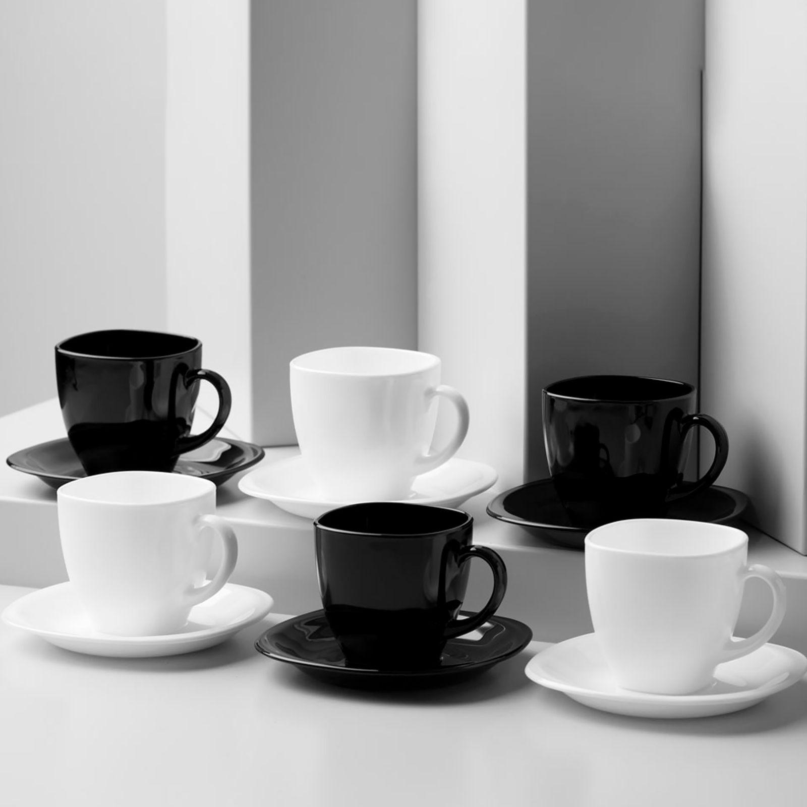 Servizio da tè / caffè Carine White & Black 220 ml 12-pezzi LUMINARC